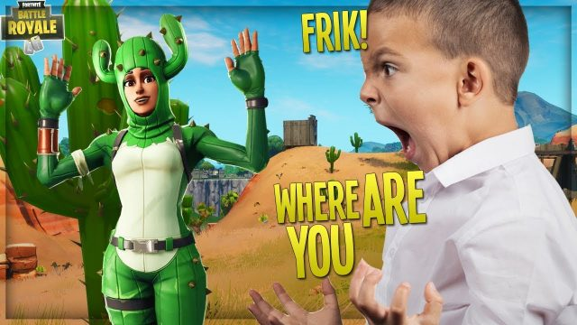 "TROLLING ANGRY KID w/ ""PRICKLY PATROLLER"" CACTUS SKIN on FORTNITE PLAYGROUND (Fortnite Trolling)"