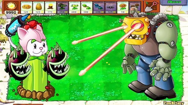 Plants vs Zombies – Cactus Cattail Chomber vs Dr. Zomboss