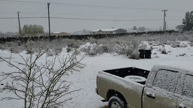Rare march snow in the chihuahuan desert
