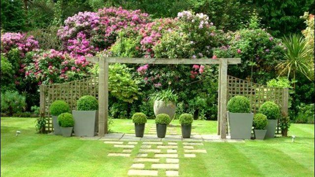 158 Garden Backyard and Landscape Ideas 2018 | Flower decoration #79
