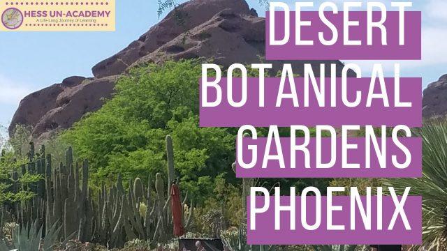 Field Trip to Desert Botanical Gardens Phoenix