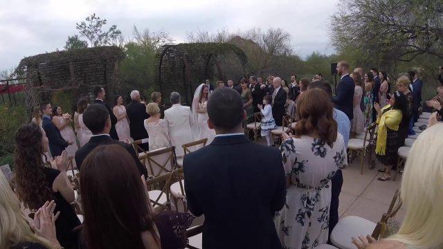 Sidorenkov Wedding at the Botanical Gardens, Phoenix Arizona