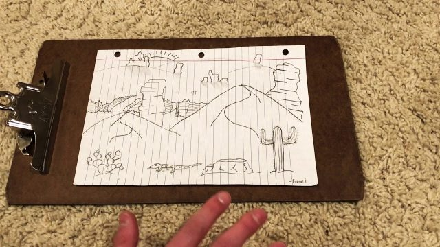 How to draw a desert landscape (easy)