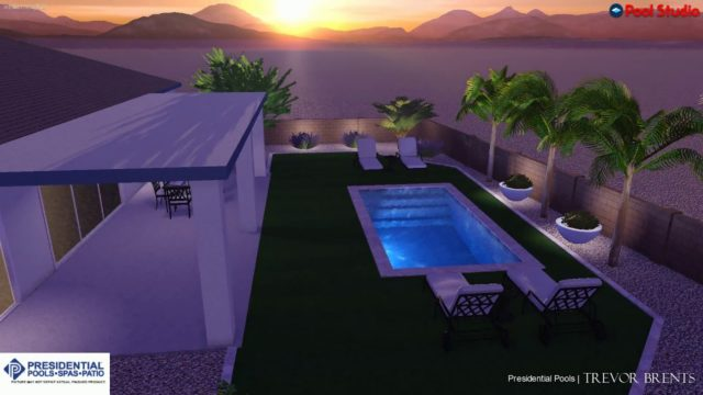 Lush Desert-Garden Pool By Trevor Brents