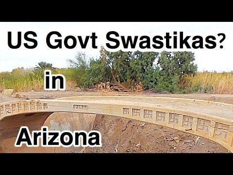 US Government Swastikas in the Arizona Desert!  Mittry Lake.