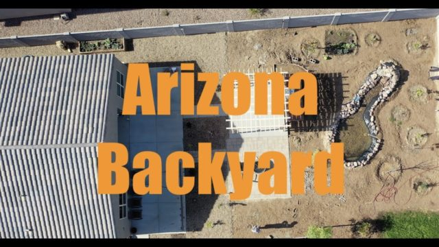 Arizona Backyard – New Home Building Progress Part 1