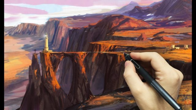 Desert Landscape Speedpaint – Photoshop Mixer Brush