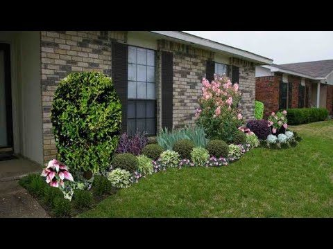 Stunning front yard garden landscaping on budget