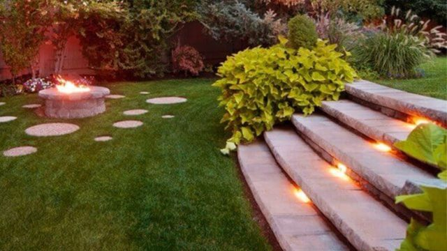 Outdoor Garden & Landscaping Step Ideas on Slope | garden step design ideas