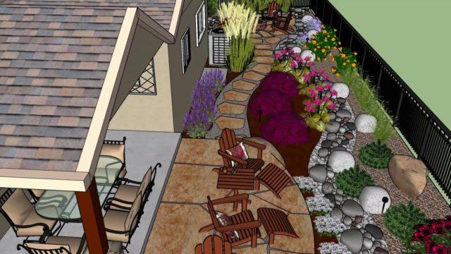 Lester Xeriscape Landscape Design Sketchup