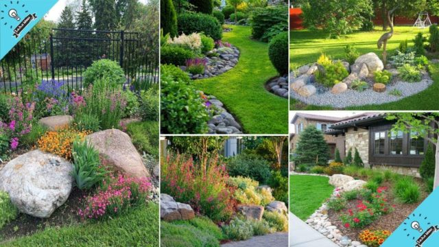 80+ Beauty Front Yard Rock Garden Landscaping Ideas | John Ideas
