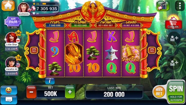 Billionaire casino phoenix garden 2 mini bonus games with 2 jackpots