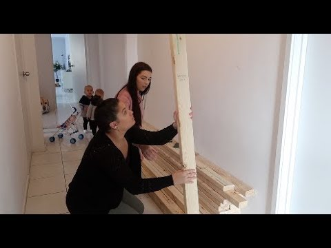 STARTING OUR DIY HOUSE BED | VLOG