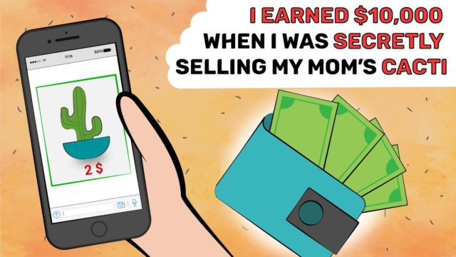 I EARNED $10,000 when I was SECRETLY selling my mom's CACTI