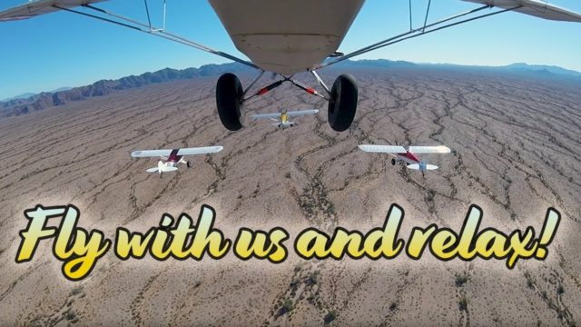 Relaxing Airplane Flight Over Arizona Desert
