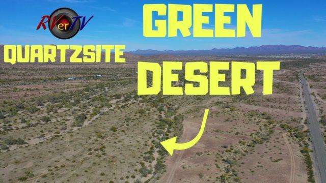 GREEN QUARTZSITE ARIZONA DESERT ??