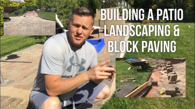 Landscaping, and Laying Block Paving To Create a Garden Patio