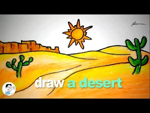 Wow… very easy to draw a desert for kids