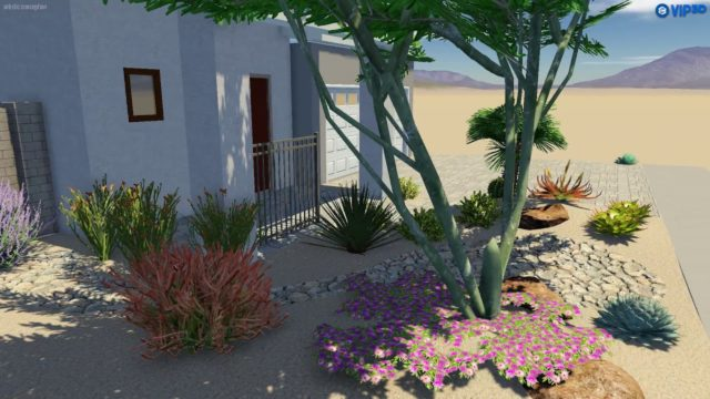Couture Outdoor Direct- Shea Recker Point front desert 3D landscape design AZ