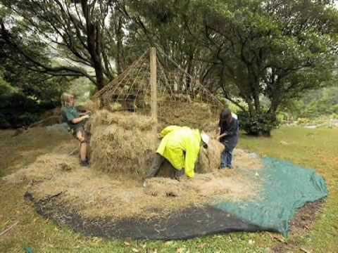 Building the haystack at the Wellington Botanic Garden