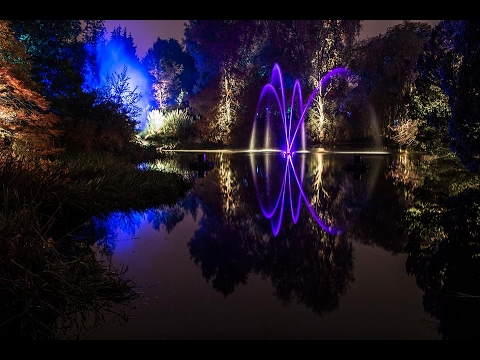 AMAZING..!!! Botanic Gardens Edinburgh Light Show