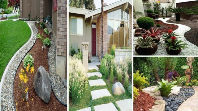 29 easy and low maintenance landscaping front yard with rocks | garden ideas