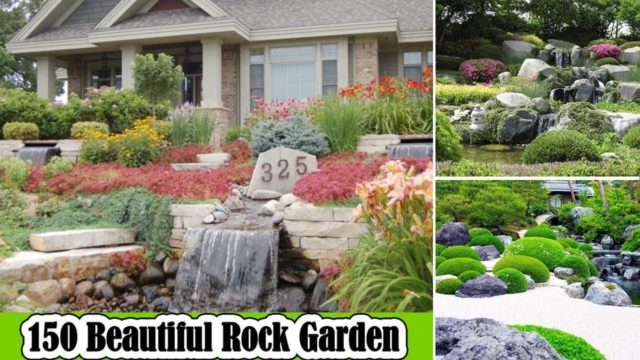 150 Beautiful Rock Garden Ideas For Landscaping & Backyard