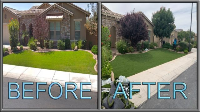 Landscaping Install – Artificial Turf Time Lapse