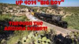[4K] MUST SEE! UP 4014 Steam in the Arizona Desert!