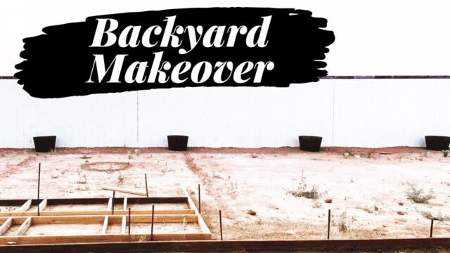 BACKYARD MAKEOVER | DIY FIRE PIT | DESERT FARMHOUSE BACKYARD | ARIZONA BACKYARD MAKEOVER