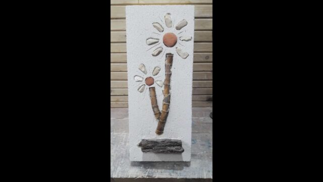 "Autoclaved Aerated Concrete (AAC) Artwork ""Desert Plant"""