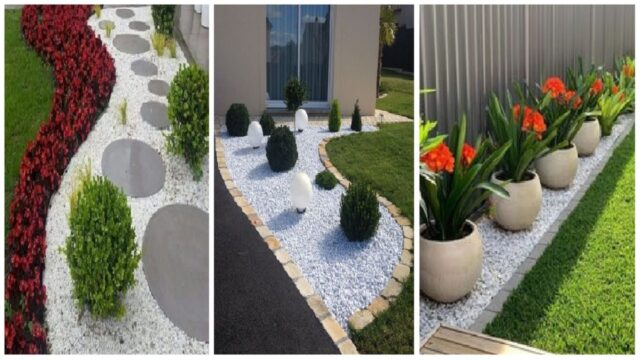 50 Amazing Stone  Garden Landscaping Ideas On a Budget | diy garden