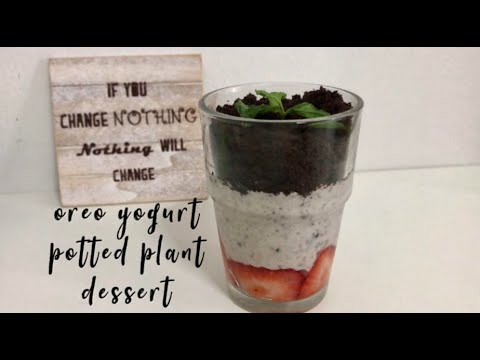 Oreo Yogurt Potted Plant Dessert (Oreo Parfait) | 奥利奥小花盆酸奶
