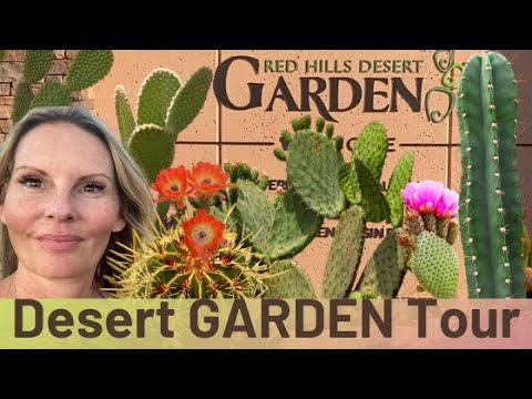 Learn Desert plant names at Red Hills Desert Garden TOUR St George, UT with MOODY BLOOMS