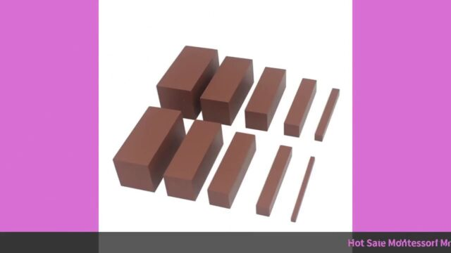 ☑Hot Sale Montessori Materials Wooden Mathematics Toys Brown Stairs Sma