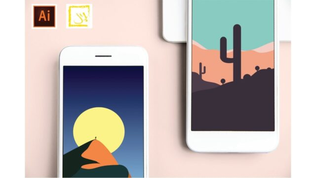 Desert Plant | Designing a Phone Wallpaper | Adobe Illustrator