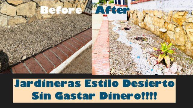 DIY – Desert Style Planters – Low maintenance – For Free!!! – VidaSencillaUSA #Gardening #Minimalist