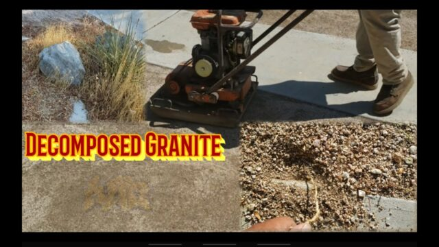 Overgrown Decomposed Granite Yard Clean up | Desert Landscape Ideas