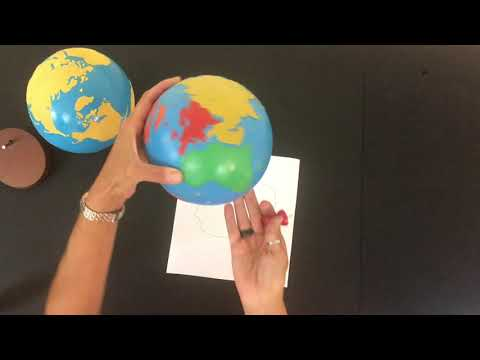 Montessori Geography | Continents | The Continents Song | Montessori Pin Poking | Preschool