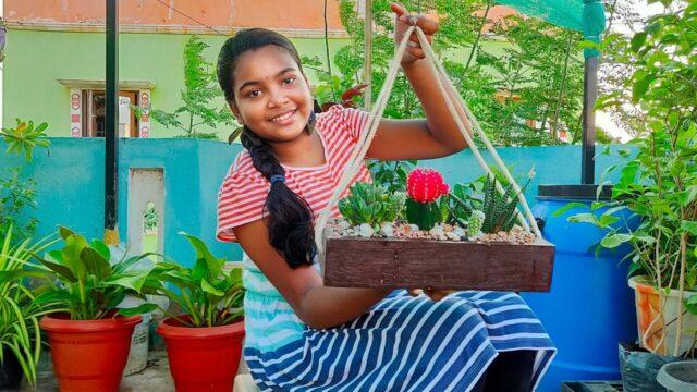 Miniature Desert Garden🌵 – Indoor Cactus & Succulent Garden Ideas – Chennai Garden & Decor