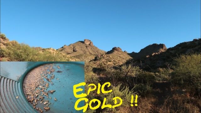 Amazing Gold Found Prospecting And Dry Washing In The Arizona Desert