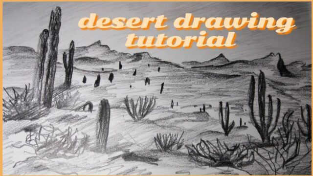 Desert Landscape Drawing || Shading Step by Step