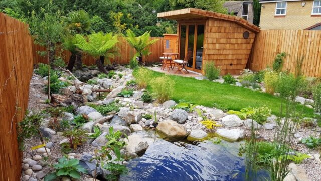 Amazing nature garden landscaping timelapse.  10 weeks in 10mins + walk around