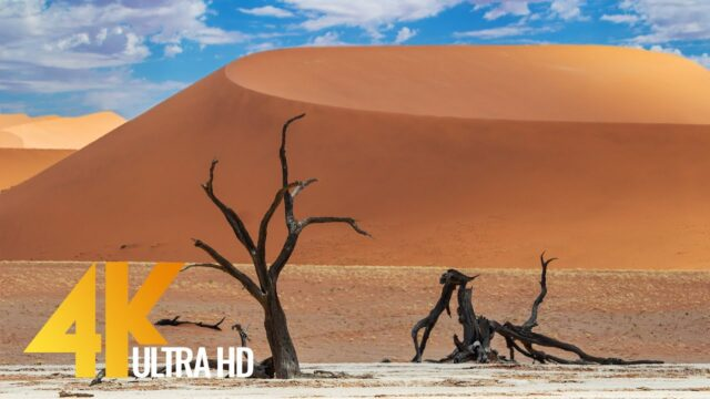 Spectacular Namibia and Botswana in 4K UHD – Discovering The Deserts – African Relax Video