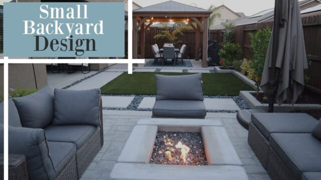 SMALL BACKYARD DESIGN IDEAS/ BACKYARD AND GARDEN TOUR