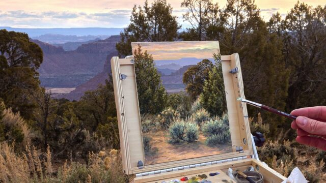 Painting a Desert Landscape En Plein Air | Oil Painting Techniques, How to Improve