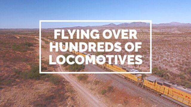 Hundreds of Union Pacific Locomotives Stored in the Arizona Desert