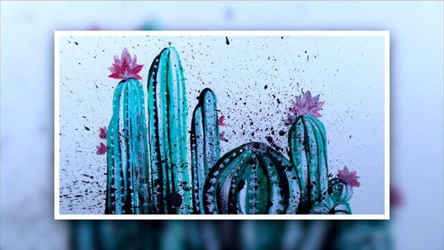 How to Paint a Cactus Landscape