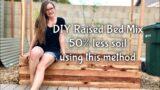 DIY Raised Garden Bed Mix + How To Use 50% Less Soil (Hugelkultur) Phoenix, AZ