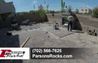 Beautiful landscape pavers-before and after-Las Vegas